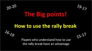 how to use the rally break