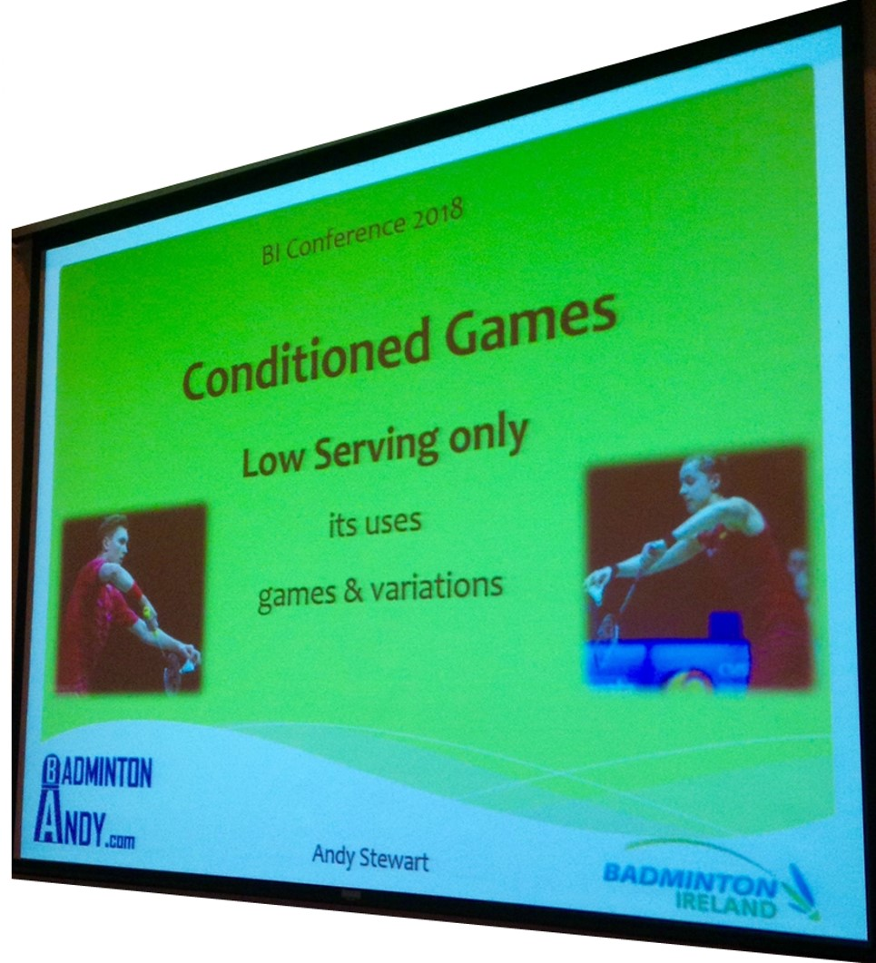 Badminton Conditioned Games - Decision making practices – Ideas for Players