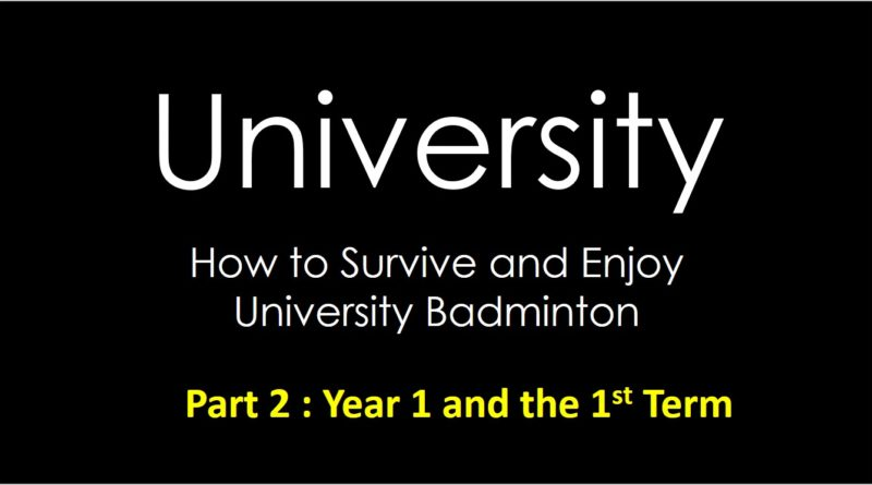 How to survive the 1st year