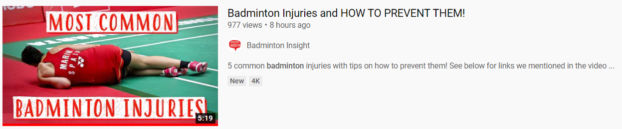 Badminton Insight how to prevent injuries