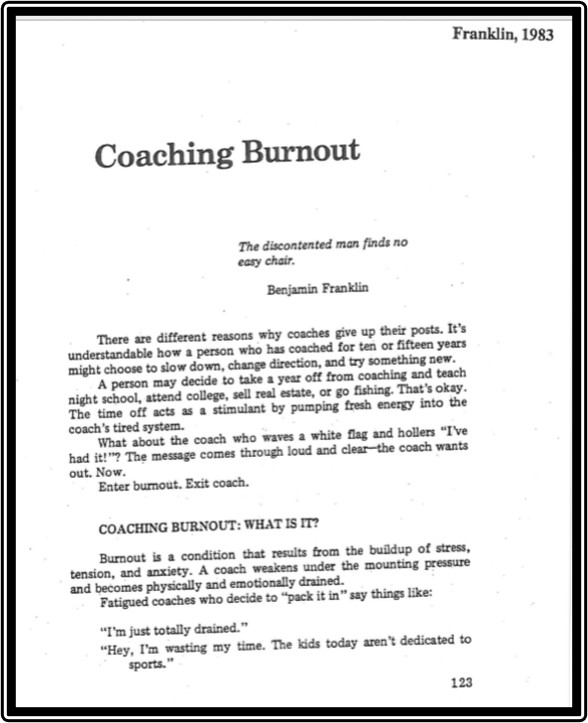 Coaching burnout