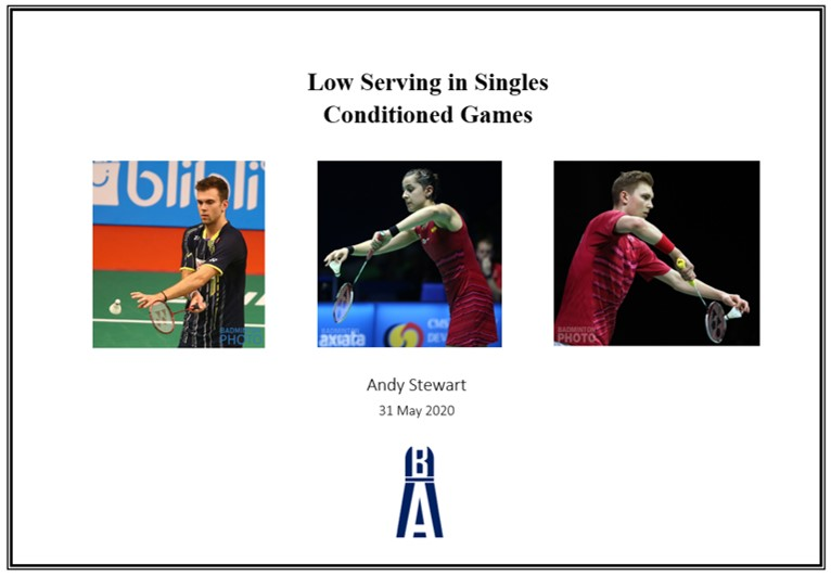 singles low serve conditioned games